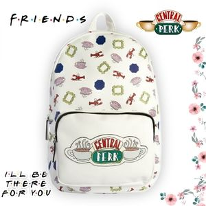 FRIENDS TV Show Logo Central Perk Large Backpack
